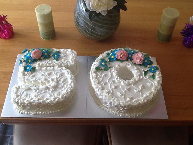 flowered 50 cake