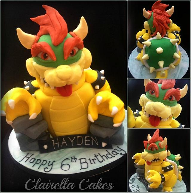 3D Bowser Cake (character from Mario)