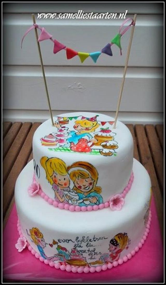 Wondrous Handpainted Blond Amsterdam Cake Cake By Sam Nels Cakesdecor Personalised Birthday Cards Epsylily Jamesorg