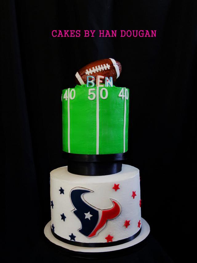 Texas football fan birthday cake.