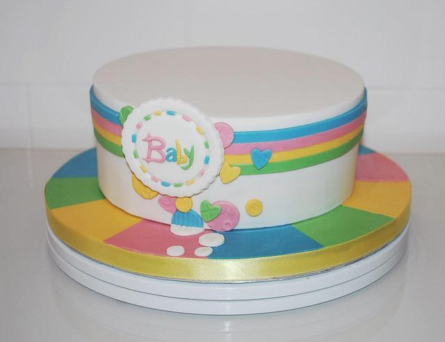 Amazing Unisex Baby Shower Cake Cake By Danielle Lainton Cakesdecor Birthday Cards Printable Benkemecafe Filternl
