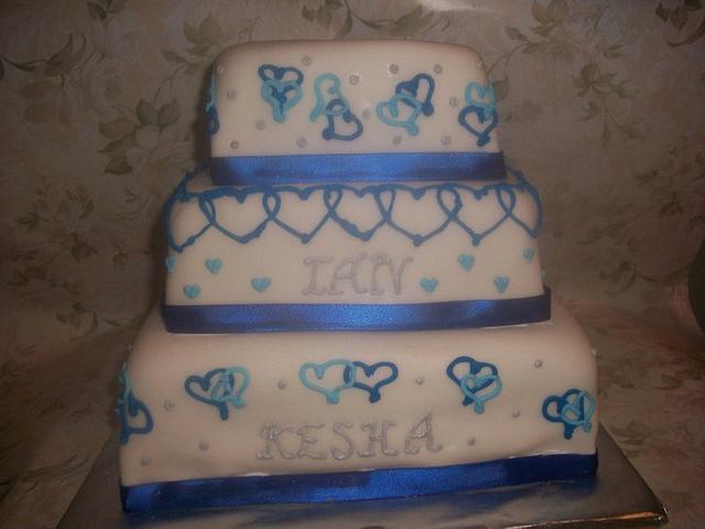 Blue Hearts Wedding