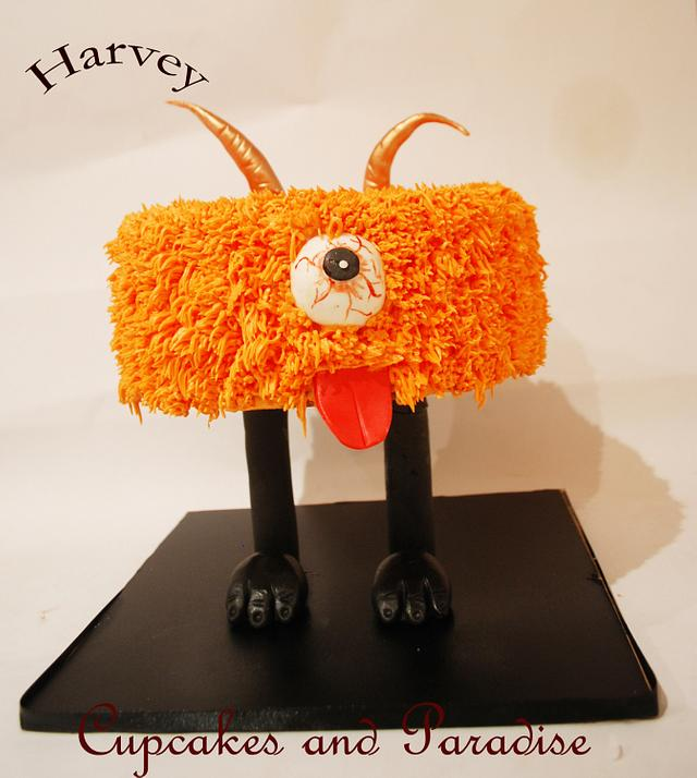 Cute Halloween Cake - Harvey!