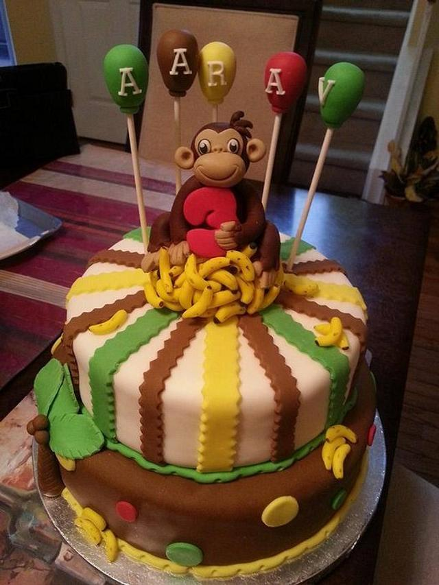 Pleasant Curious George Birthday Cake Cake By Yourfantasycakes Cakesdecor Funny Birthday Cards Online Sheoxdamsfinfo