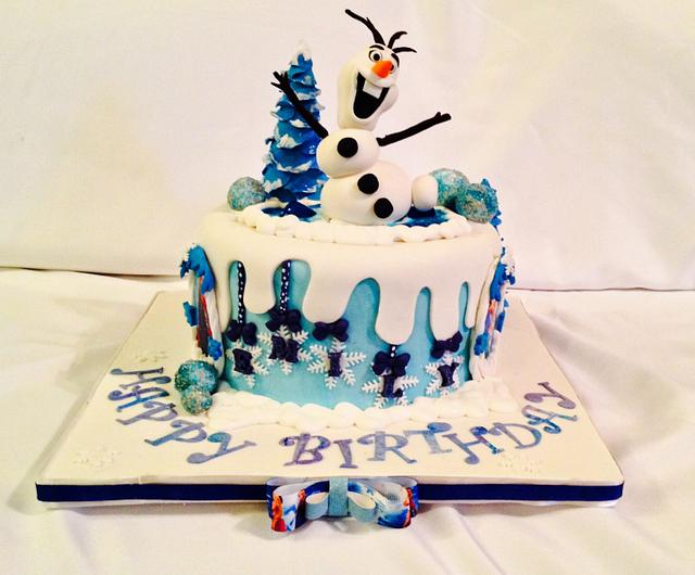 Disney's Frozen Birthday cake!!! Let it go: Olaf