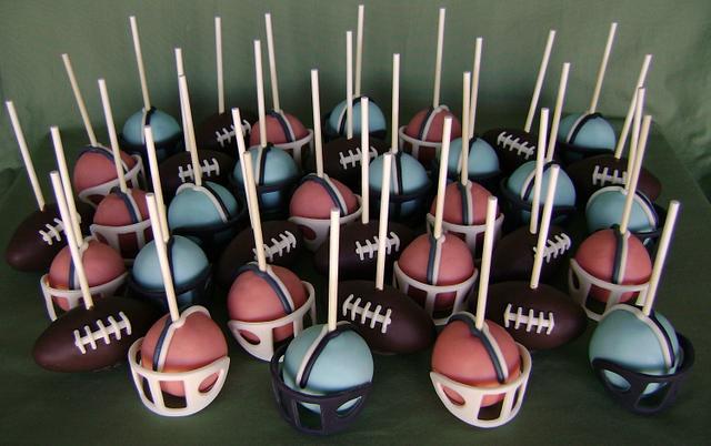 Super Bowl 50 Cake Pops