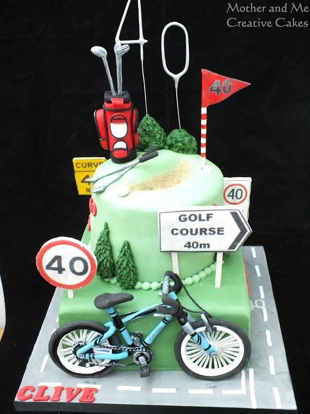 Cycling and Golf Cake