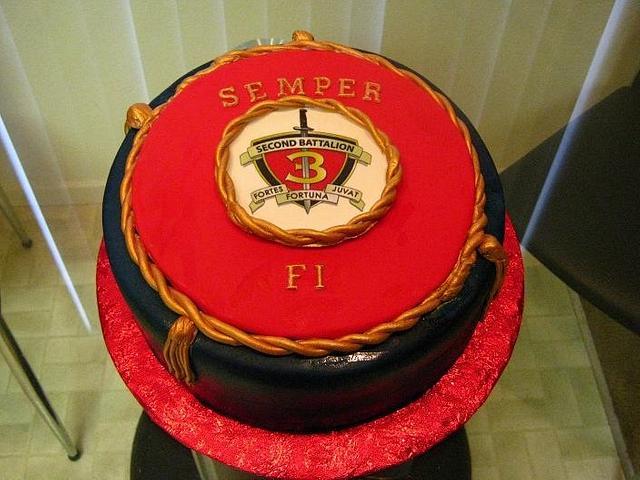 U.S. Marine Corp. Cake