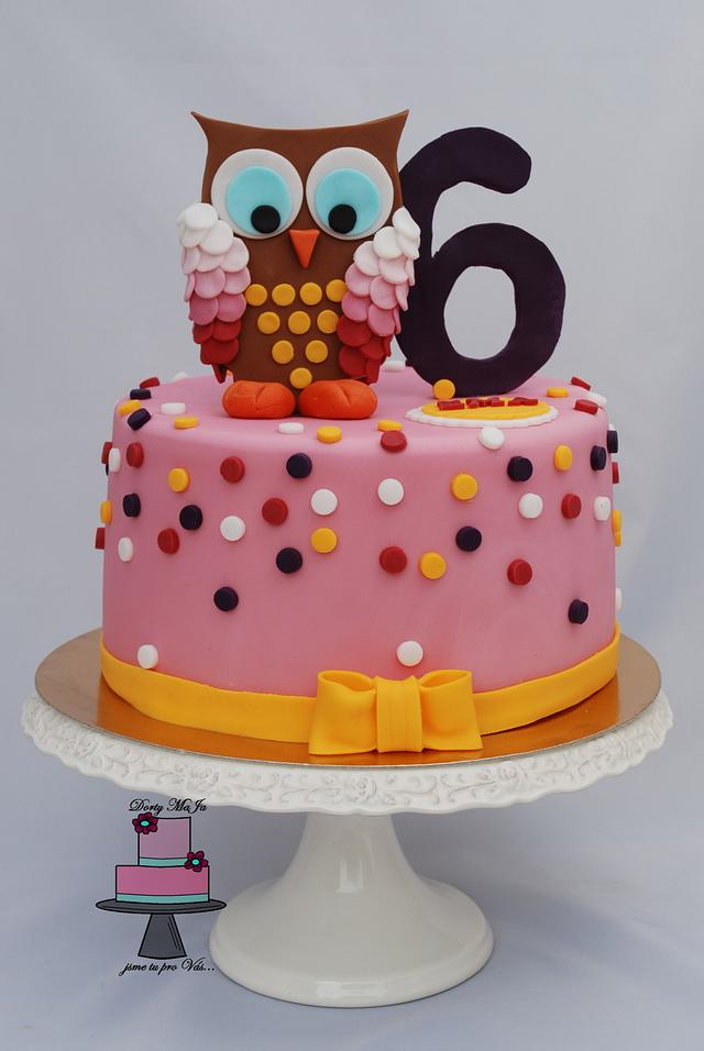 Cake with owl