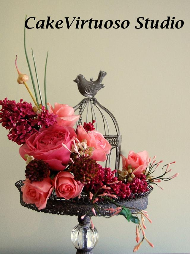 Sugarflowers and cakes in blooms World Cancer Day collaboration
