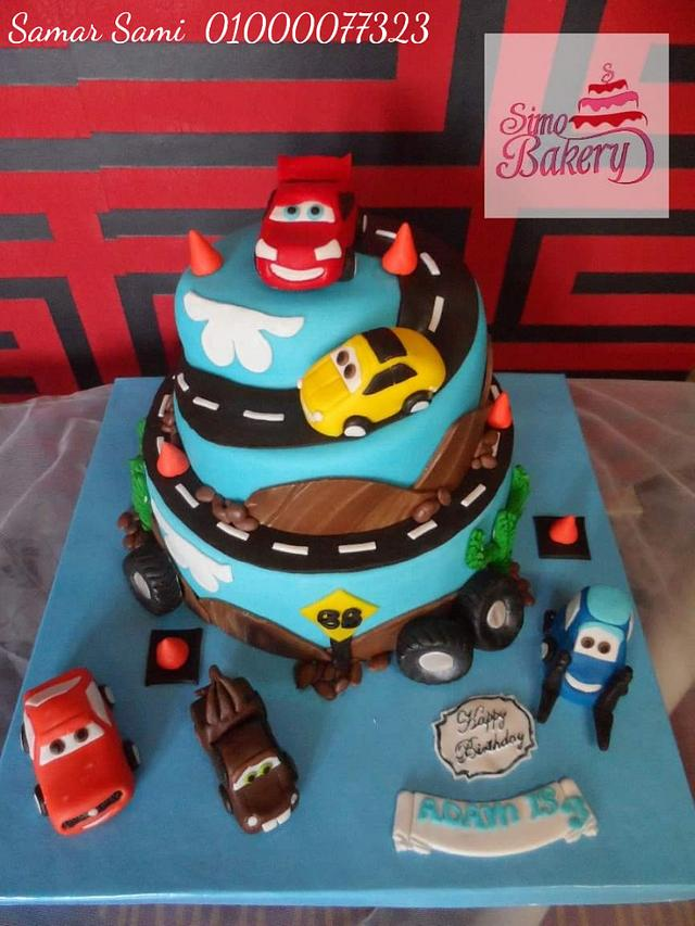 Brilliant Cars Birthday Cake Cake By Simo Bakery Cakesdecor Funny Birthday Cards Online Eattedamsfinfo
