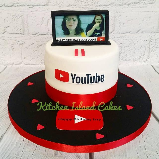 Admirable Youtube Cake Cake By Kitchen Island Cakes Cakesdecor Personalised Birthday Cards Paralily Jamesorg