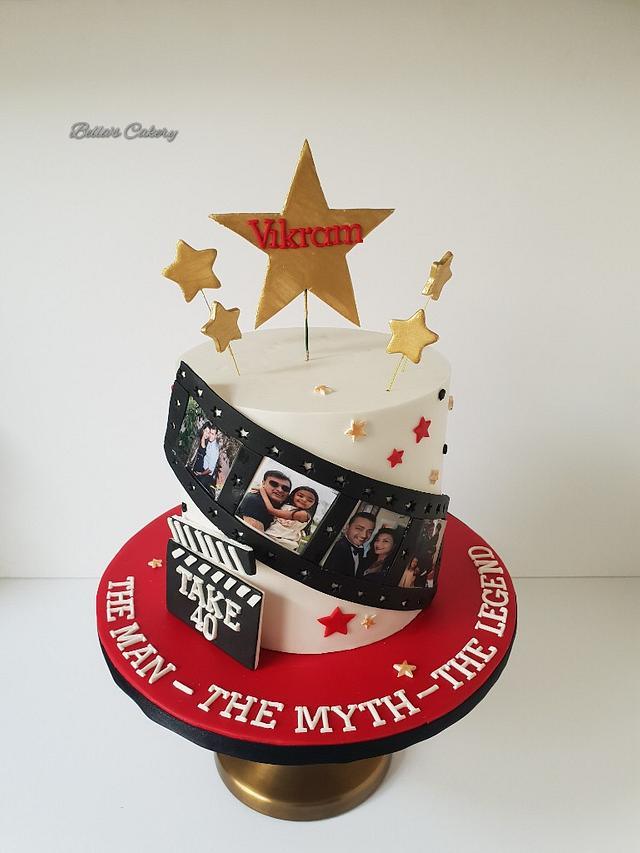 Peachy Movie Themed Birthday Cake Cake By Bellas Cakes Cakesdecor Funny Birthday Cards Online Alyptdamsfinfo