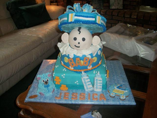 Baby shower cake from Enchanted Cakes on FB