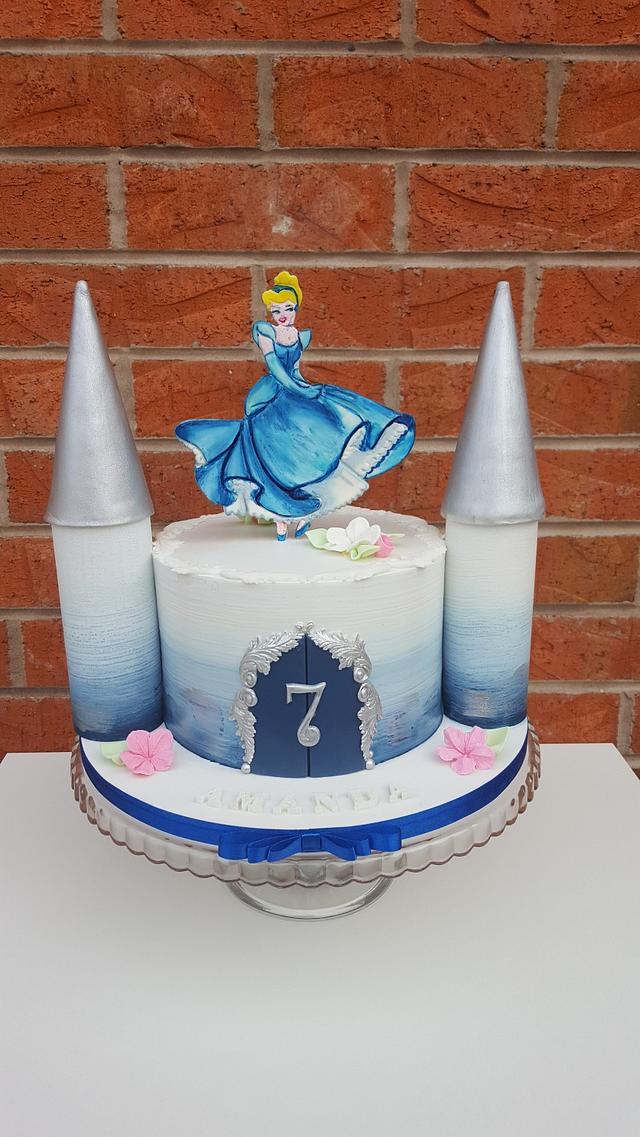 Awe Inspiring Cinderella Castle Cake Cake By Sweet Art Anna Rodrigues Cakesdecor Funny Birthday Cards Online Fluifree Goldxyz