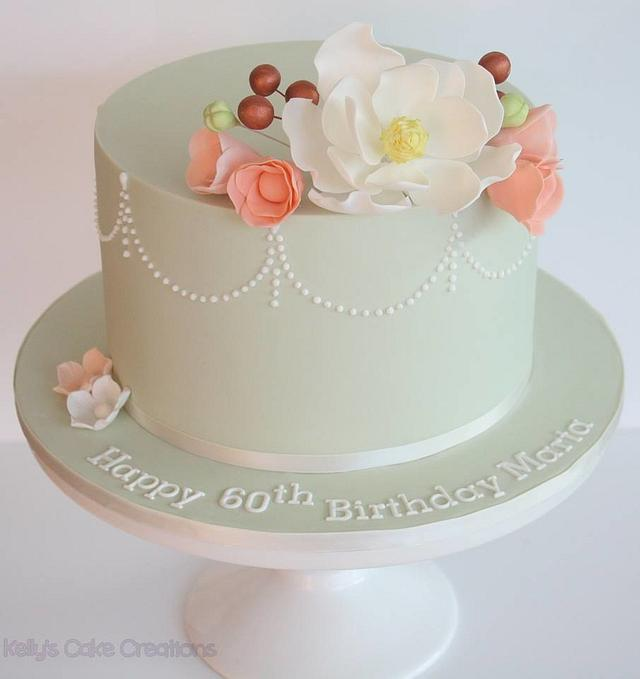 Pretty flowers and piping