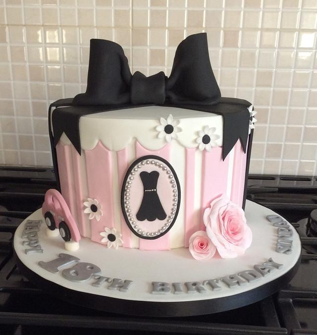 Simple Elegance 18th Birthday Cake Cake By Sugar Art By Cakesdecor