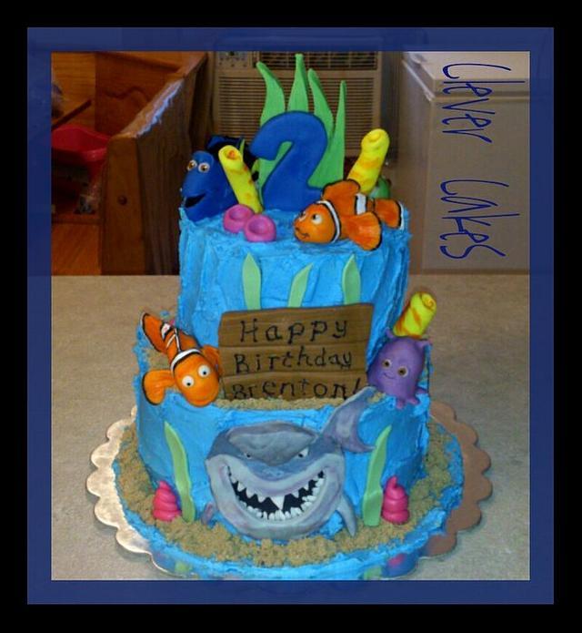 Edible Nemo Characters Cake