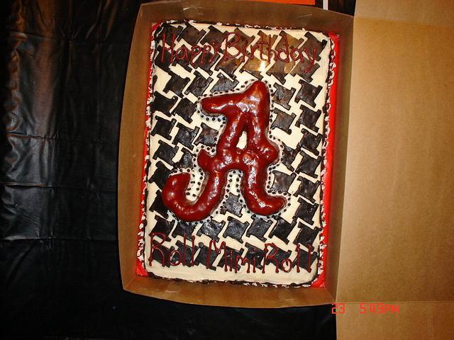 Alabama Houndstooth cake