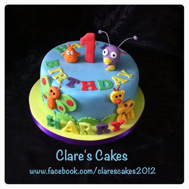 Groovy Baby Tv 1St Birthday Cake Cake By Clares Cakes Cakesdecor Funny Birthday Cards Online Alyptdamsfinfo