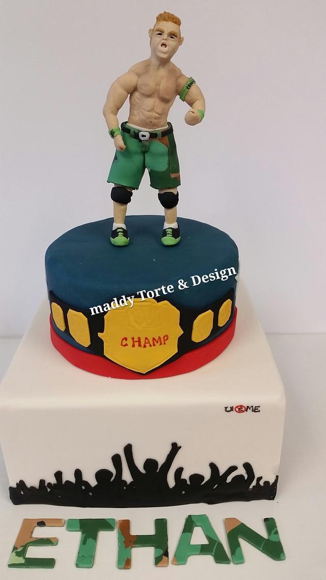 Astonishing John Cena Cake Cake By Madcrumbs Cakesdecor Personalised Birthday Cards Veneteletsinfo