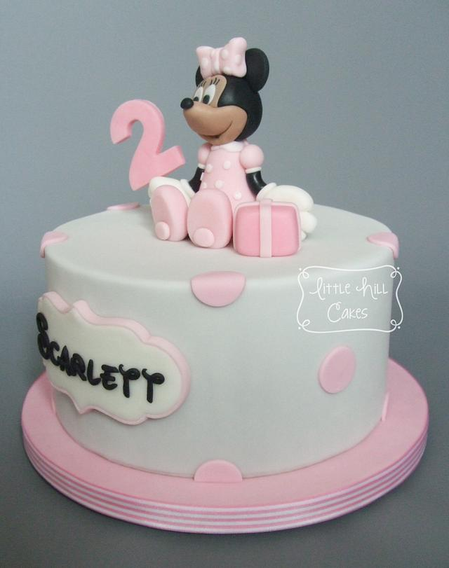 Wondrous Minnie Mouse 2Nd Birthday Cake Cake By Little Hill Cakesdecor Funny Birthday Cards Online Chimdamsfinfo