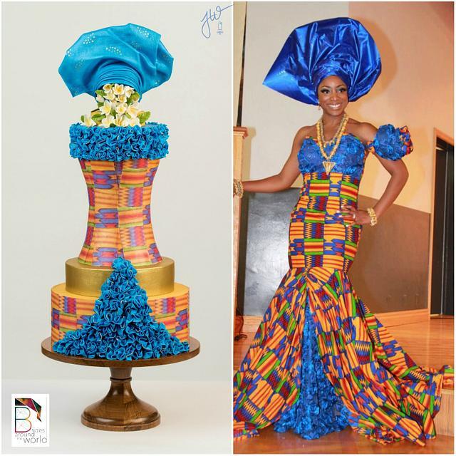 Ghana Modern Wedding Gown - Brides Around the World Collaboration
