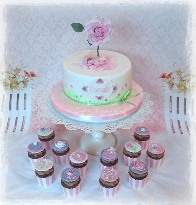 Christening cake for baby Esmae