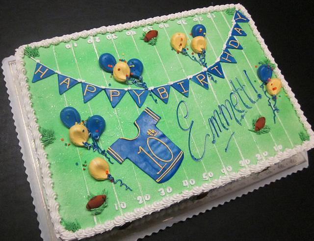 Football field sheet cake