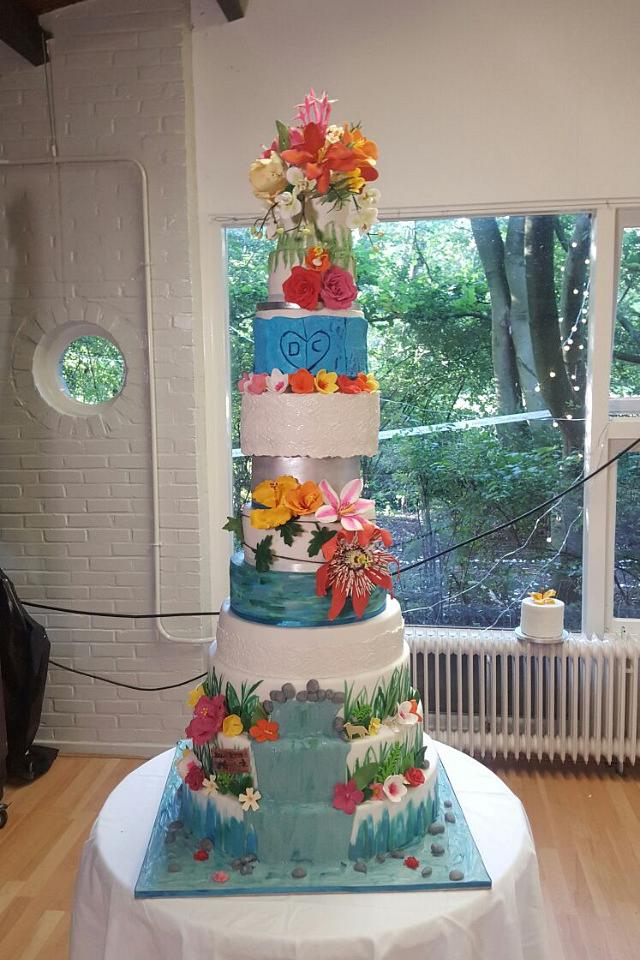 12 layer wedding cake