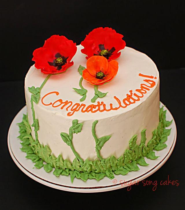 Happy Poppies Celebration Cake