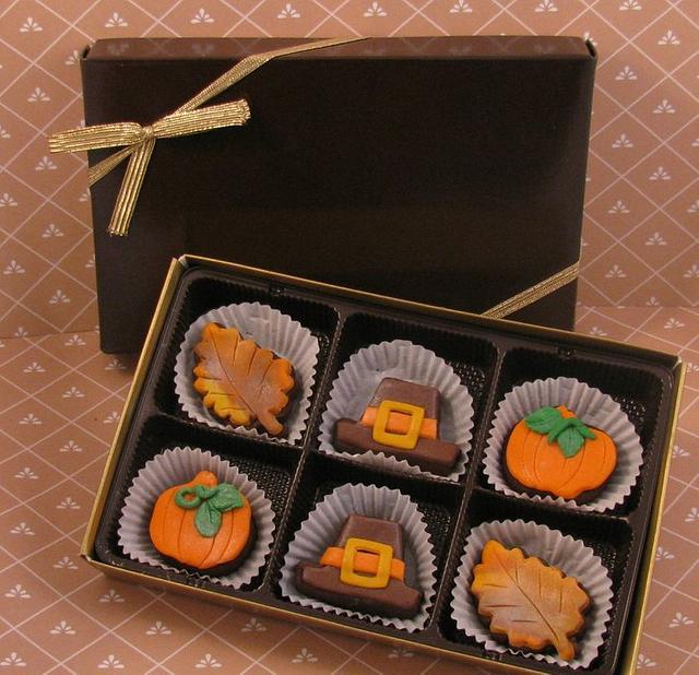 Thanksgiving Brownie Bites Gift Box