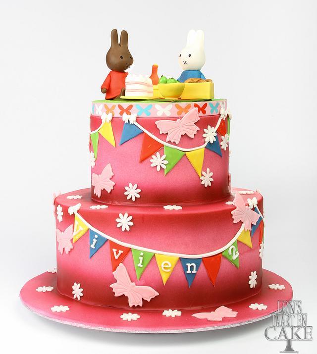 Colorful kids cake