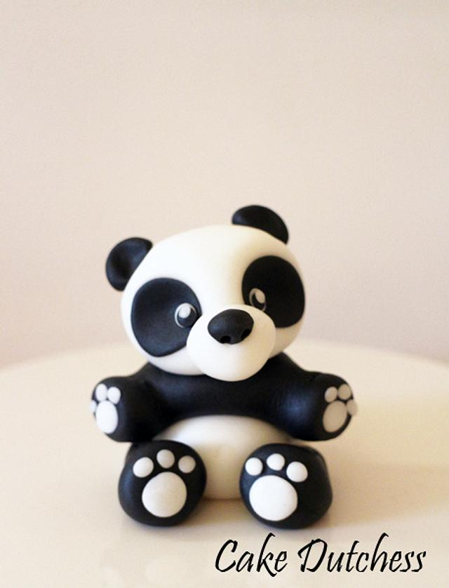 Panda Bear Cake Topper with step by step