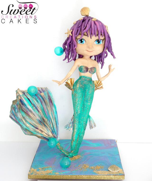 Mermaid 3d cake
