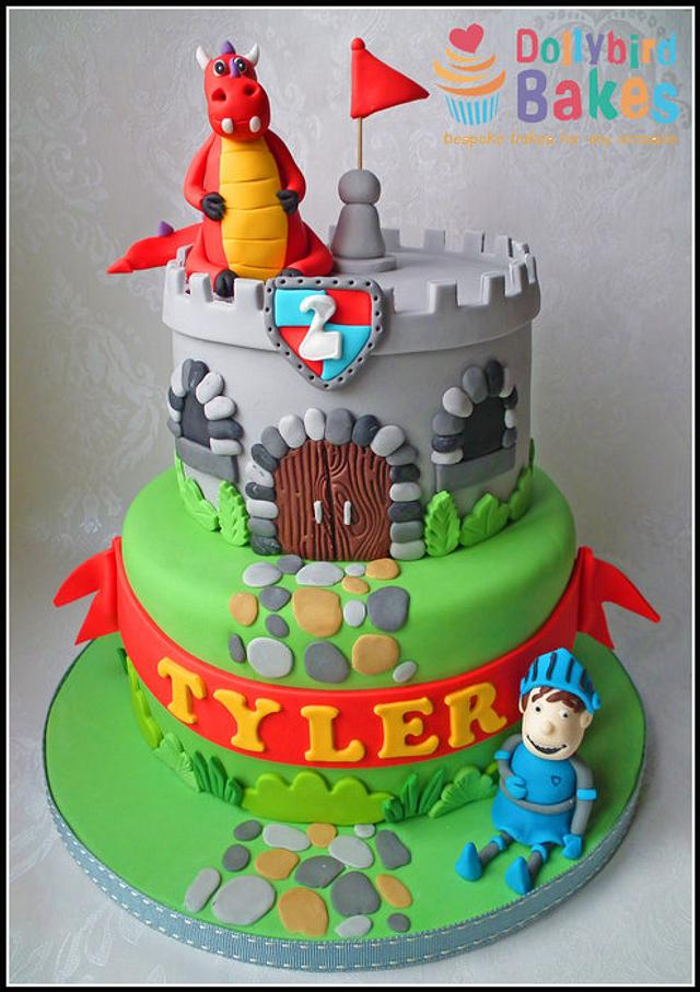 Fantastic Mike The Knight Cake Cake By Dollybird Bakes Cakesdecor Funny Birthday Cards Online Eattedamsfinfo