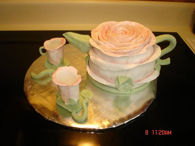 Mothers Day Teapot Cake