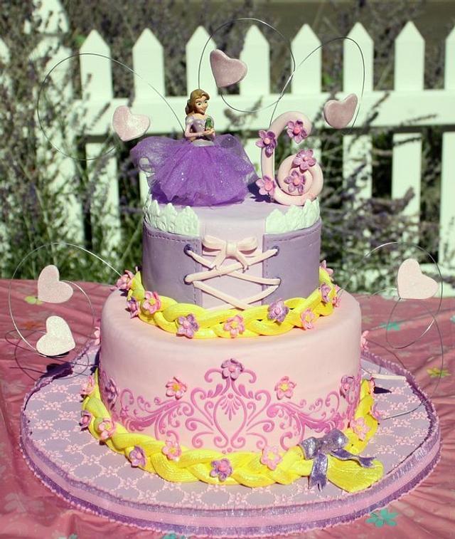 Phenomenal Rapunzel Birthday Cake Cake By Butterflysweets Cakesdecor Funny Birthday Cards Online Elaedamsfinfo