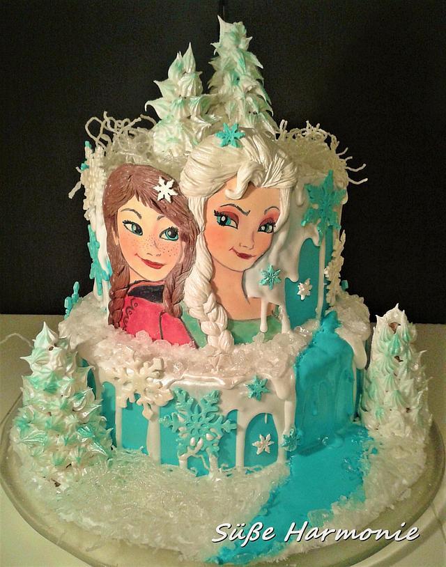 Elsa und Anna Birthday Cake