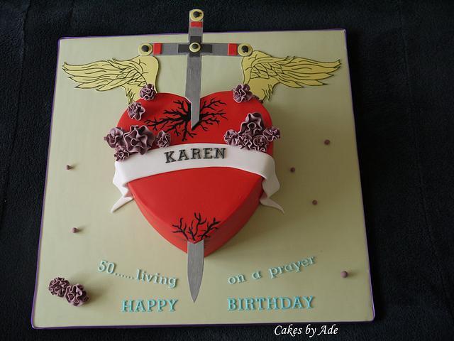 Bon Jovi, Heart & Dagger 50th birthday cake - May 2011