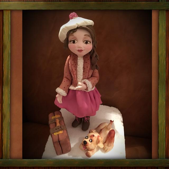 Retro sugar doll