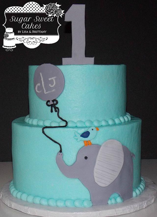 Elephant & Balloon w/smash cake
