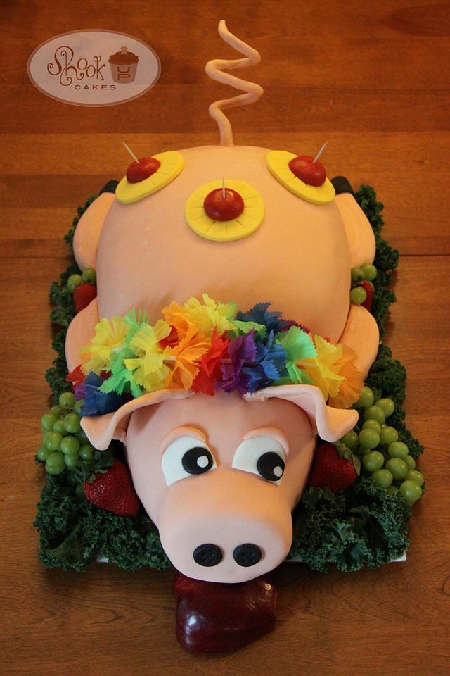 Luau Pig Cake!