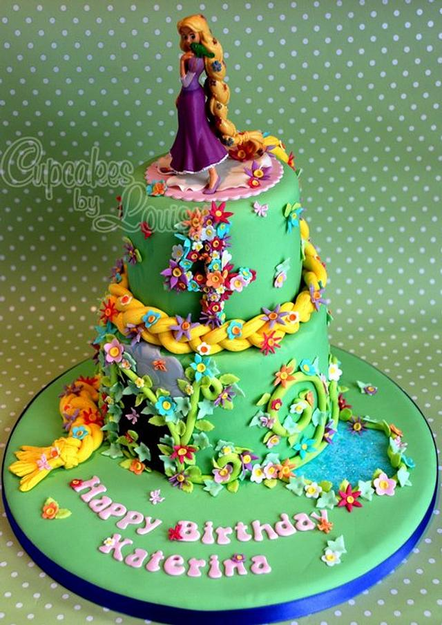 Excellent Rapunzel Birthday Cake Cake By Cupcakesbylouise Cakesdecor Funny Birthday Cards Online Alyptdamsfinfo