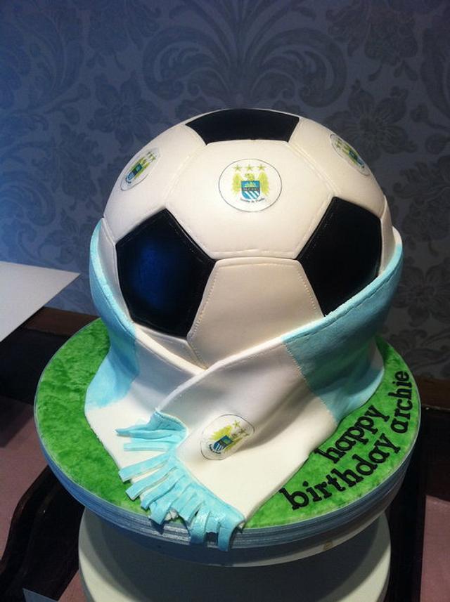 Manchester City Football Cake
