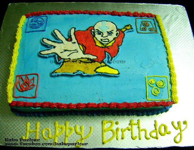 Avatar Aang Cake