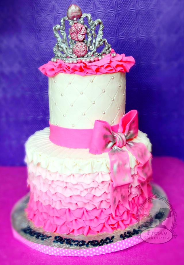 Cool 1St Birthday Princess Cake Cake By Aarthi Cakesdecor Funny Birthday Cards Online Inifodamsfinfo