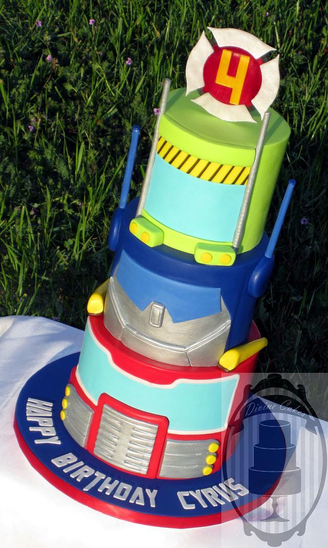 Brilliant Rescue Bots Cake By Olga Cakesdecor Funny Birthday Cards Online Alyptdamsfinfo