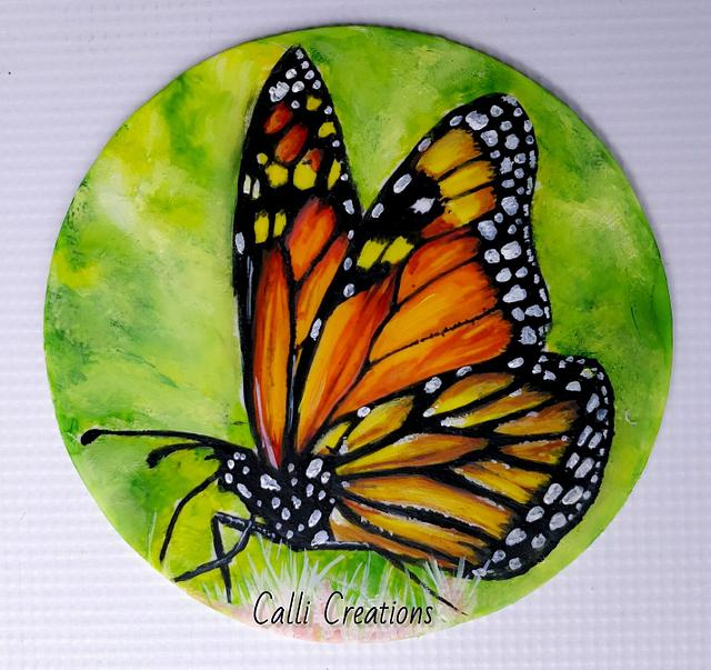 Butterfly painting demonstration