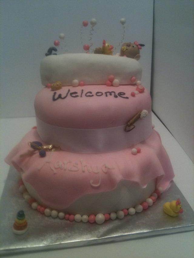 babygirl tub cake